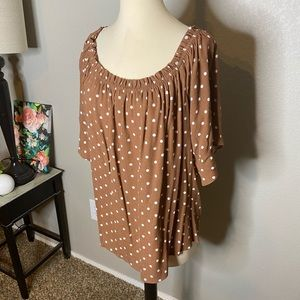 Maurices Tops - Polka Dot Off Shoulder Style Top Sz 1X